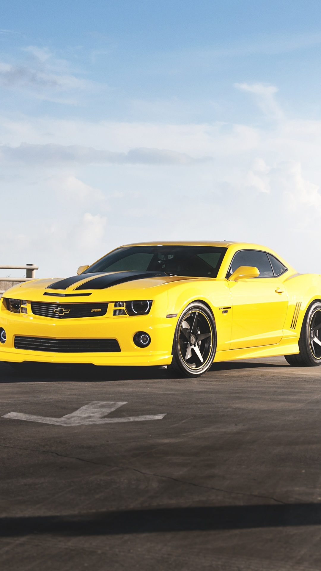 Chevrolet camaro rs coche amarillo iphone x 8 7 6 5 4 3gs - Iphone 6 car wallpaper hd ...