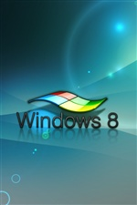 3D Windows 8 Logo iPhone fondos de pantalla