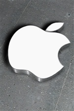 3D metal blanco de Apple iPhone fondos de pantalla