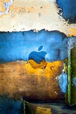 Pared de la pintada de colores de Apple iPhone fondos de pantalla