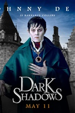 Johnny Depp en Dark Shadows iPhone fondos de pantalla