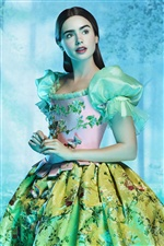 Lily Collins en The Brothers Grimm: Snow White iPhone fondos de pantalla