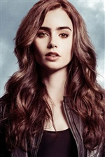 Lily Collins 03 iPhone fondos de pantalla
