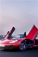 McLaren MP4-12C de color rojo supercar iPhone fondos de pantalla