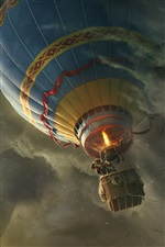 Oz The Great and Powerful, globo de aire caliente iPhone fondos de pantalla