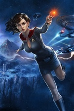Star Trek Online, beautiful girl iPhone fondos de pantalla