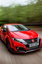 Coche rojo 2015 Honda Civic UK-spec iPhone fondos de pantalla